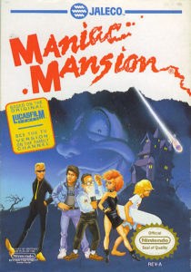 Maniac Mansion NES Box