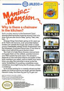 Maniac Mansion NES Box Back
