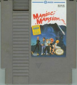 Maniac Mansion NES Cartridge