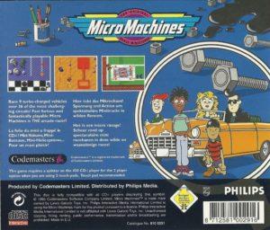 Micro Machines CDI Box Back