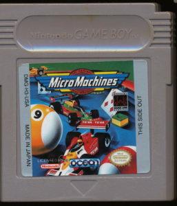 Micro Machines Game Boy Cartridge