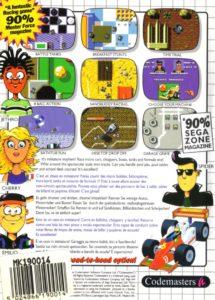 Micro Machines SMS Box Back