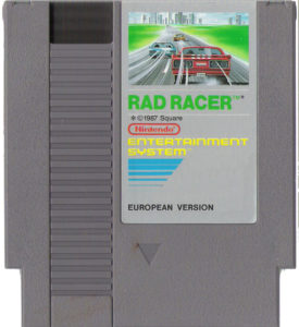 Rad Racer European Cartridge