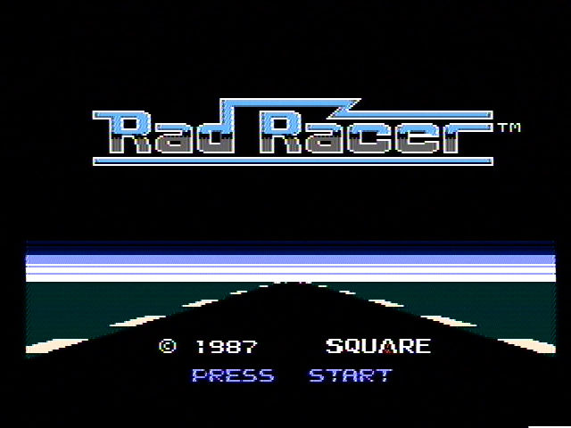 Rad Racer Title Screen