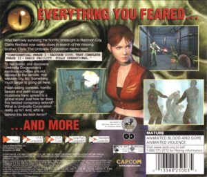 Resident Evil Code Veronica Box Back