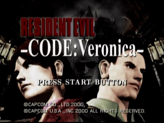 Resident Evil Code Veronica Title Screen