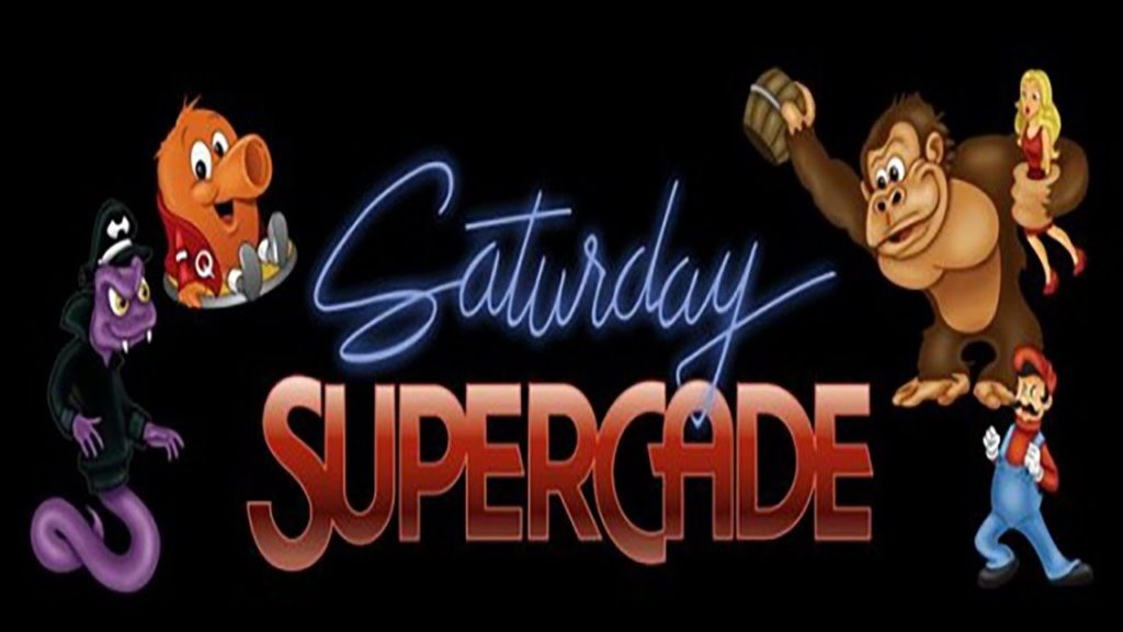 Saturday Supercade Logo with Characters