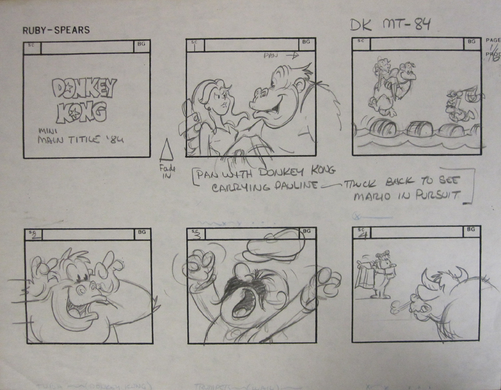 Story Board Donkey Kong