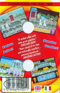 Altered Beast Commodore 64 Box Back
