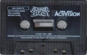 Altered Beast Commodore 64 Cassette Tape