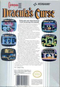 Castlevania III - Dracula's Curse Box Back