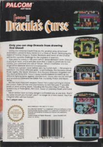Castlevania III - Dracula's Curse Europe Box Back