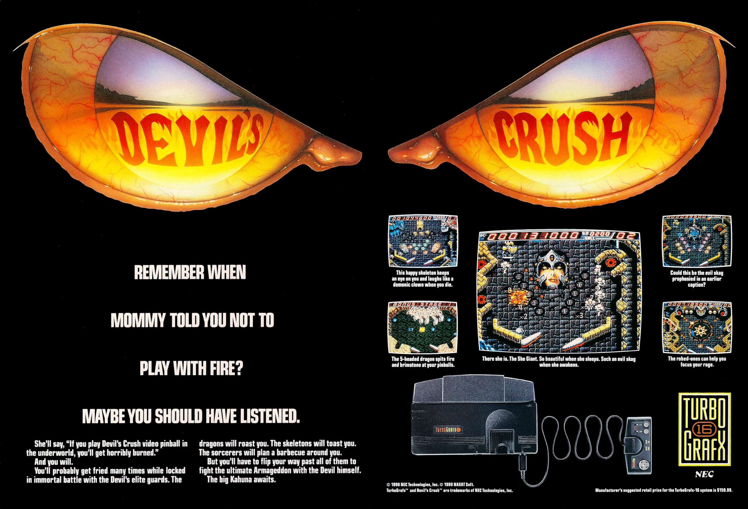 Devil's Crush Advertisement