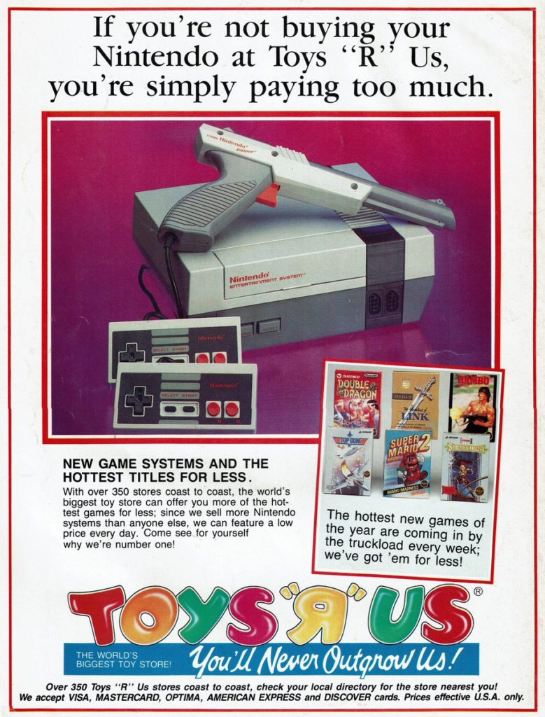 Nintendo Zapper Toys R Us Ad