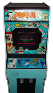 Popeye Arcade Cabinet Blue