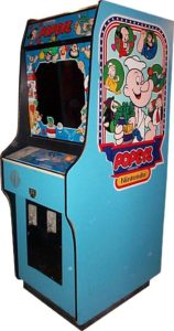 Popeye Arcade Cabinet Side View