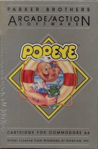 Popeye Commodore 64 Box