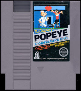 Popeye NES Cartridge