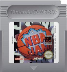 NBA Jam Game Boy Cartridge
