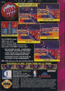 NBA Jam Game Gear Box Back
