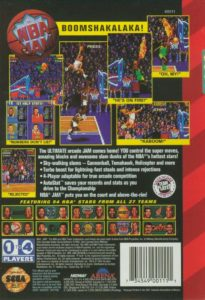 NBA Jam Genesis Box Back