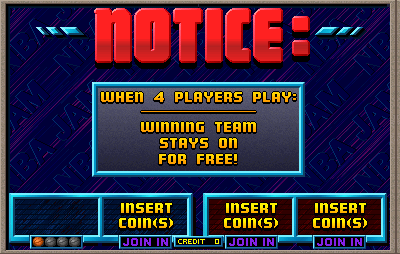 NBA Jam Insert Coin Screen