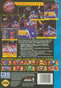 NBA Jam Sega CD Box Back