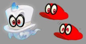 Super Mario Odyssey Concept Art - Cappy