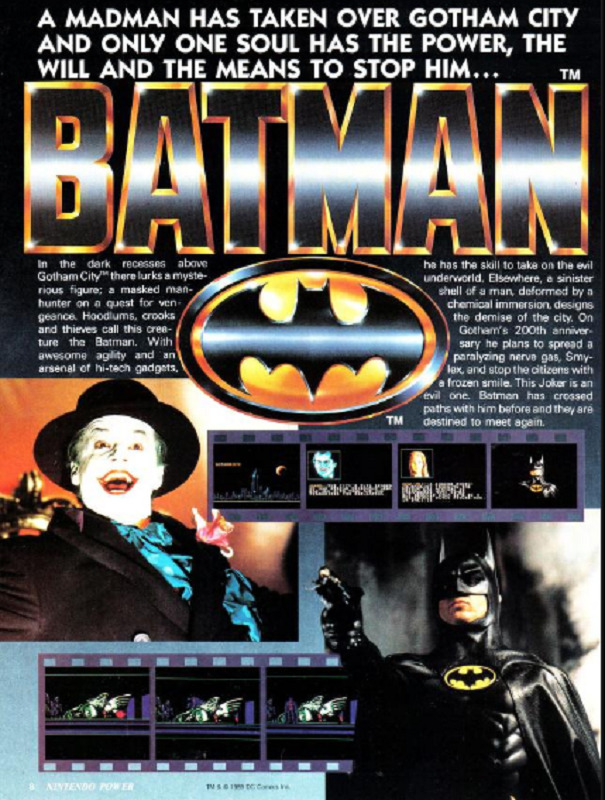 Batman The Video Game Nintendo Power