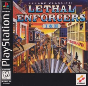 Lethal Enforcers PlayStation Box
