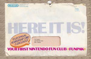 Nintendo Fun Club Envelope