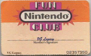 Nintendo Fun Club Membership Card