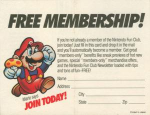 Nintendo Fun Club News Free Membership
