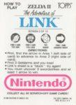 Nintendo Game Pack Link Card 2 Back