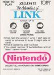 Nintendo Game Pack Link Card 4 Back