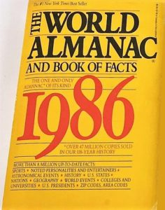 The World Almanac and Book of Facts 1986