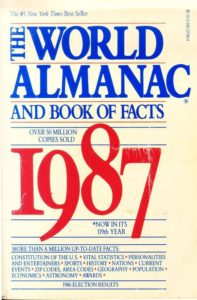 The World Almanac and Book of Facts 1987