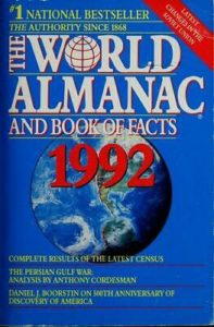 The World Almanac and Book of Facts 1992