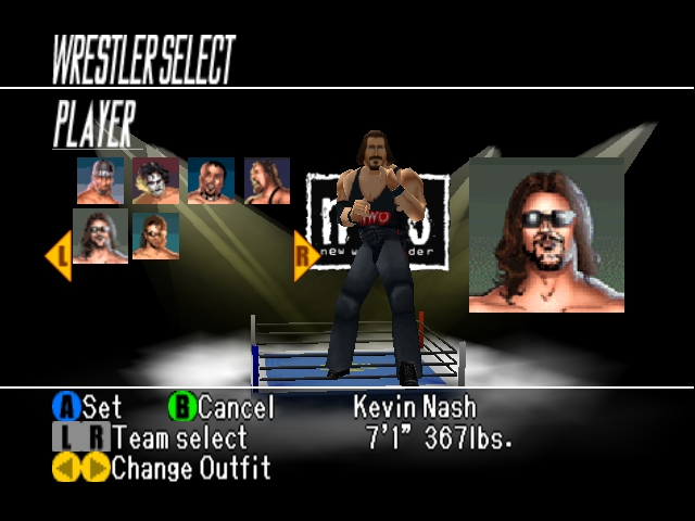 WCW vs nWo World Tour Character Select Kevin Nash