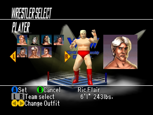 WCW vs nWo World Tour Character Select Ric Flair