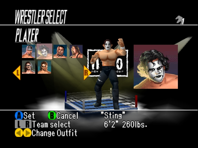 WCW vs nWo World Tour Character Select Sting