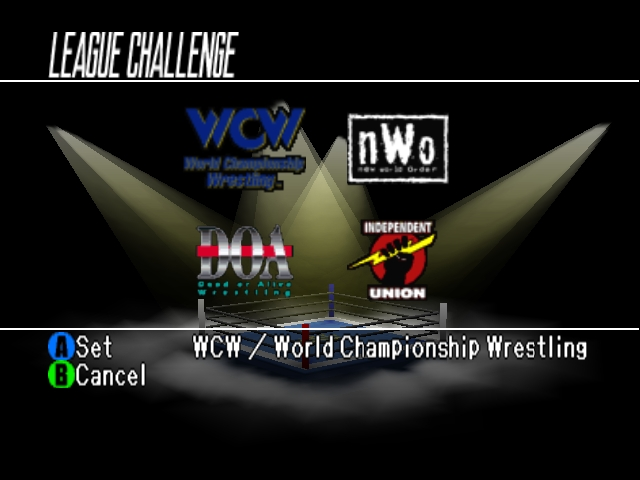 WCW vs nWo World Tour League Challenge
