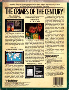 Where in the World is Carmen Sandiego Apple II Box Back
