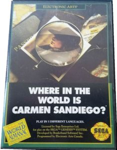 Where in the World is Carmen Sandiego Genesis Box