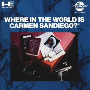 Where in the World is Carmen Sandiego PC Engine CD-Rom Box