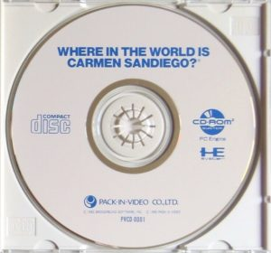 Where in the World is Carmen Sandiego PC Engine CD-Rom Disc