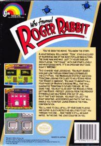 Who Framed Roger Rabbit Box Back