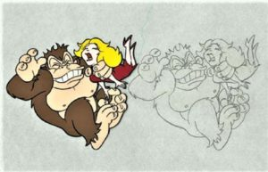 Donkey Kong Cereal Animation Cel 1
