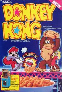 Donkey Kong Cereal Box