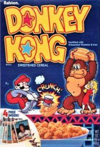 Donkey Kong Cereal Box 3